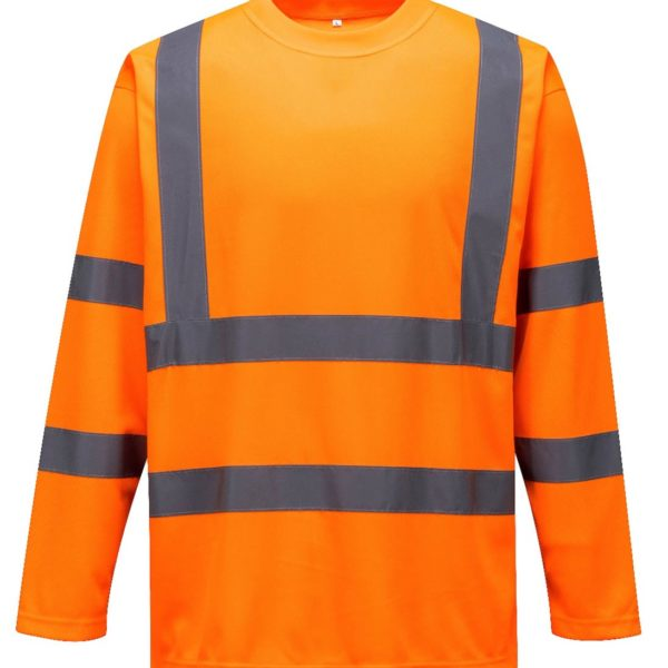 Hi Vis Round Neck Shirt Long Sleeve